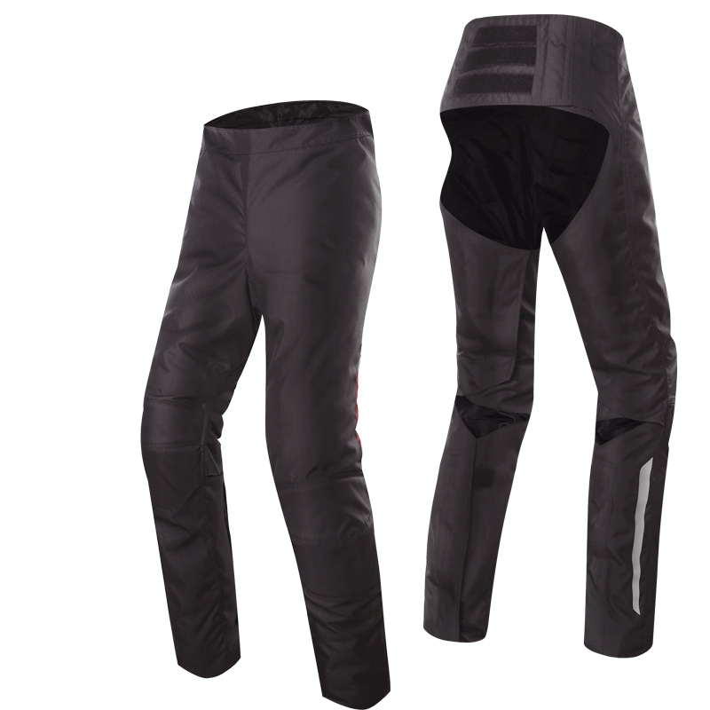 Scoyco P042 Motorcycle motorbike open-seat Pants Removeable Inner Warm Winter Windproof Protective Trousers pantalon moto Black