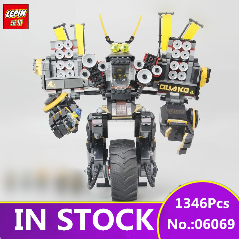 IN STOCK NEW LEPIN 06069 1346 Pcs Cole's Quake Mech Ninjago Series Jay Kai A Gang's Unicycle Building Blocks Toys Gifts 70632 lepine 06069 1346 pcs ninjagoe quake mech set jay kai a gang s model building blocks toys for children compatible legoe 70632