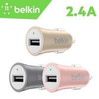 Belkin Premium Universale Del Telefono Mobile 2.4A Rapido Caricabatteria Da Auto per iPad per il iphone 7 6 s Plus per Tablet con il Pacchetto F8M730