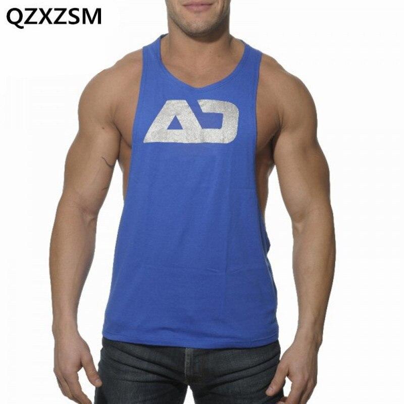 QZXZSM 2017 New Men's Tank Tops Low Cut Armholes Vest Men's Sexy Tank Xman Muscle Man's Fitness