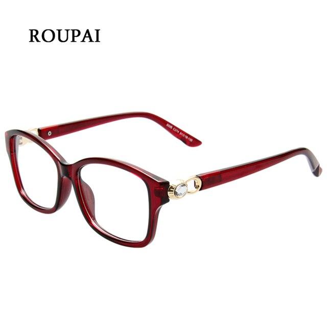 ROUPAI Brillen Frames Für Frauen 2018 Rechteckigen Kunststoffrahmen Klare  Linse Billig Brillen Rahmen Vintage Dekorative Brillen