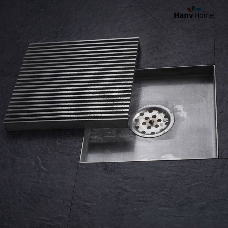 6 Inch Square Shower Floor Drain Made Of 304 Stainless