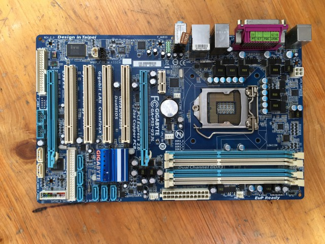For Gigabyte GA-P55-US3L Original Used Desktop Motherboard P55-US3L For Intel H55 LGA 1156 For i5 i7 DDR3 16G ATX original gigabyte ga z68x ud3r b3 desktop motherboard z68x ud3r b3 z68 lga 1155 i3 i5 i7 ddr3 32g atx 100