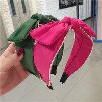 Fashion Luxuriou Big bow Cloth Hair Hoop Headband Hairband for Women Girls Small fresh style Hair Band Hair Accessories