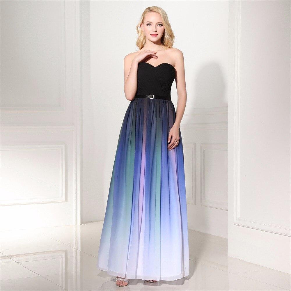 Длинное платье с градиентом