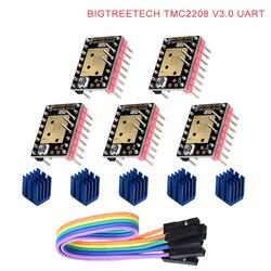 Biqu bigtreetech tmc2208 v3.0 uart mks stepstick do motor de passo motorista mudo vs tmc2100 para a placa de controle da impressora 3d skr pro/v1.3