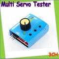 1 unids Multi Servo Tester 3CH ECS Consistencia Velocidad Controler Potencia Canales CCPM Meter Gota Al Por Mayor freeship