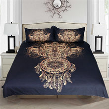 3D Bedding set Owl Wind Chimes 3 pcs Duvet Cover Pillowcases Bed Linen Home Textiles Drop Shipping Service(China)