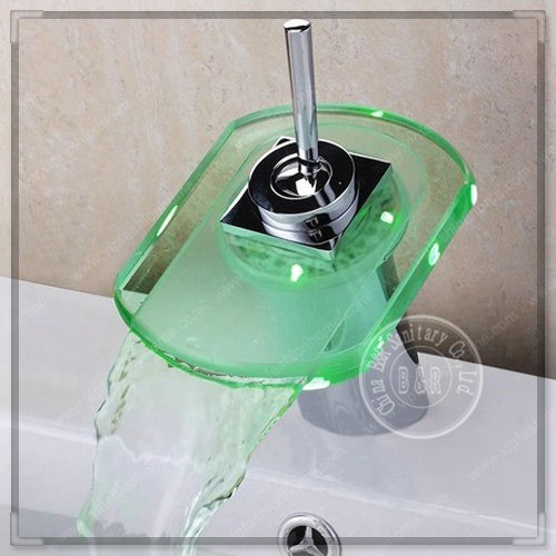 BAKALA temperature controlled faucet LED sink faucet led color ...