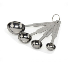 4 Kitchen Stainless Steel Measuring Coffee Tea Spoons 15pcs/lot