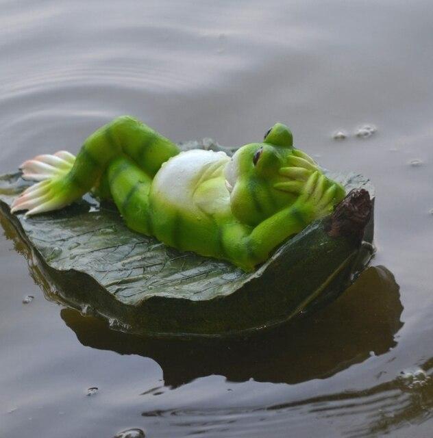 Garden Ornaments Home Decor Crafts Furnishings Simulation Landscaping  Aquarium Fish Pond Animal Floating Frog Garden