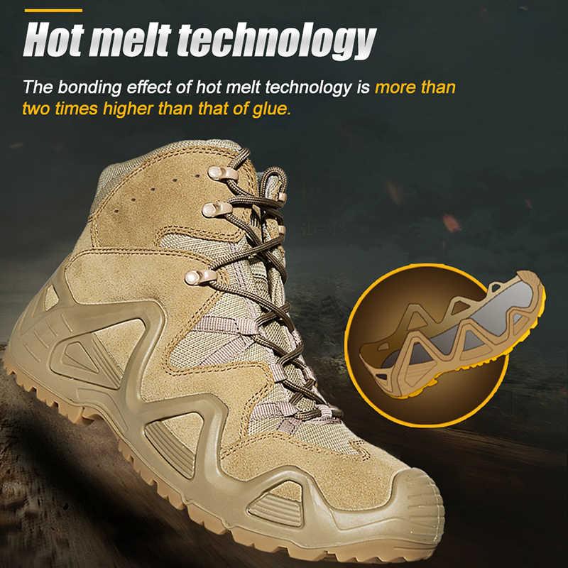 CQB Outdoor Sports Tactical wspinaczka górska Boot mężczyźni odporne na zużycie buty antypoślizgowe duże rozmiary buty trekkingowe do uprawiania turystyki pieszej