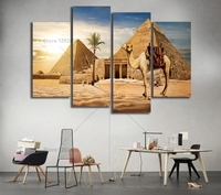 5D Diy Diamond Painting Desert Pyramid Wall Pictures For Living Room Decor 4pcs Diamond Embroidery Cross