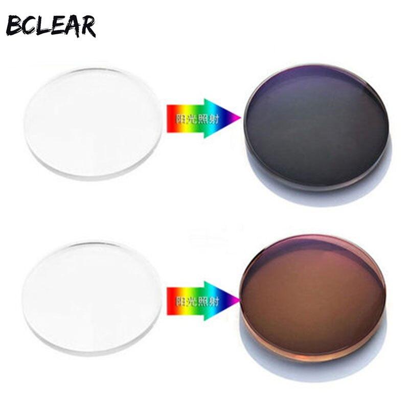 Le Transizioni di BCLEAR 1.67 Indice Asferico Fotocromatiche Lenti per Occhiali Da Sole Lente con il Grado di Foto Grigio Marrone lente Singola visione