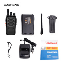 2pcs BF-888S baofeng walkie talkie 888s UHF 400-470MHz 16Channel Portable two way radio with earpiece bf888s transceiver