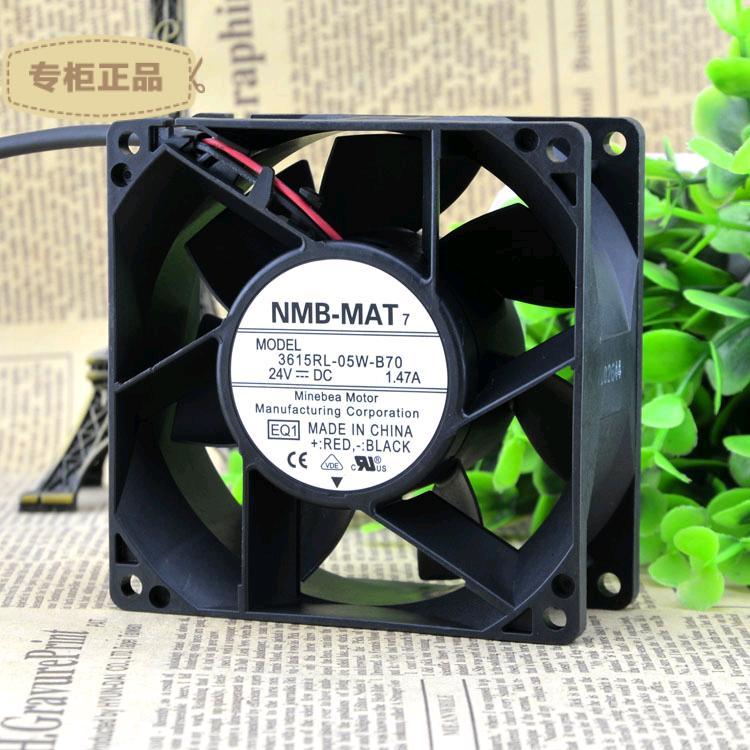 Free Delivery. 615 rl - 05 w - B70-92 x38 E00 DC fan is 24 VDC. 4 mm, 7200 RPM nmb 24vdc 92 92 38 4mm 7200rpm 615rl 05w b70 e00 dc fan