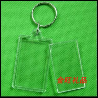 DHL Freeshipping 500 pcs Blank Acrylic Keychains key chains Insert Photo plastic Keyrings 06