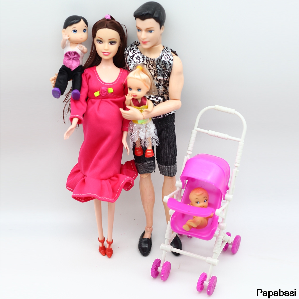 1set Educational Real Pregnant Doll for barbie doll (Mom