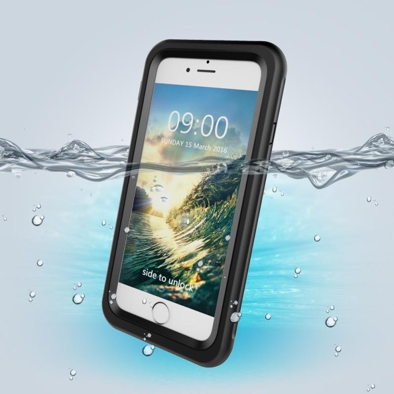 imágenes para Cubierta para el iphone 7 Cubierta de la Caja IP68 A Prueba de agua Bolsa de Identificación de Huellas Dactilares para el iphone 7 Caso