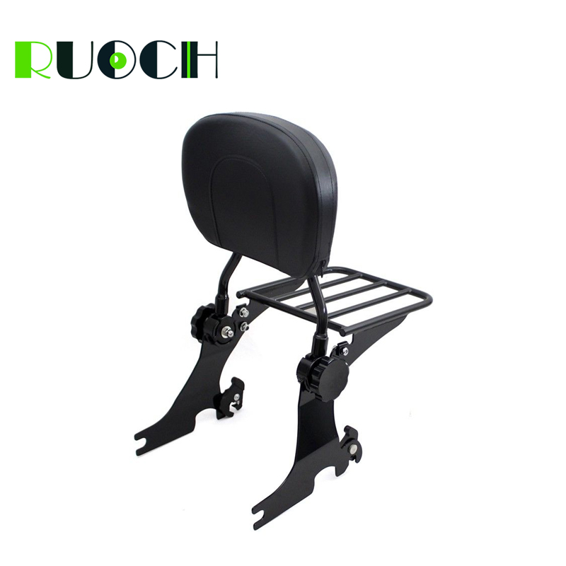 RUOCH For Harley Sportster Detachable Sissy Bar Backrest for Iron 883 1200 XL883 XL1200 2004-2019 Motorcycle Accessories