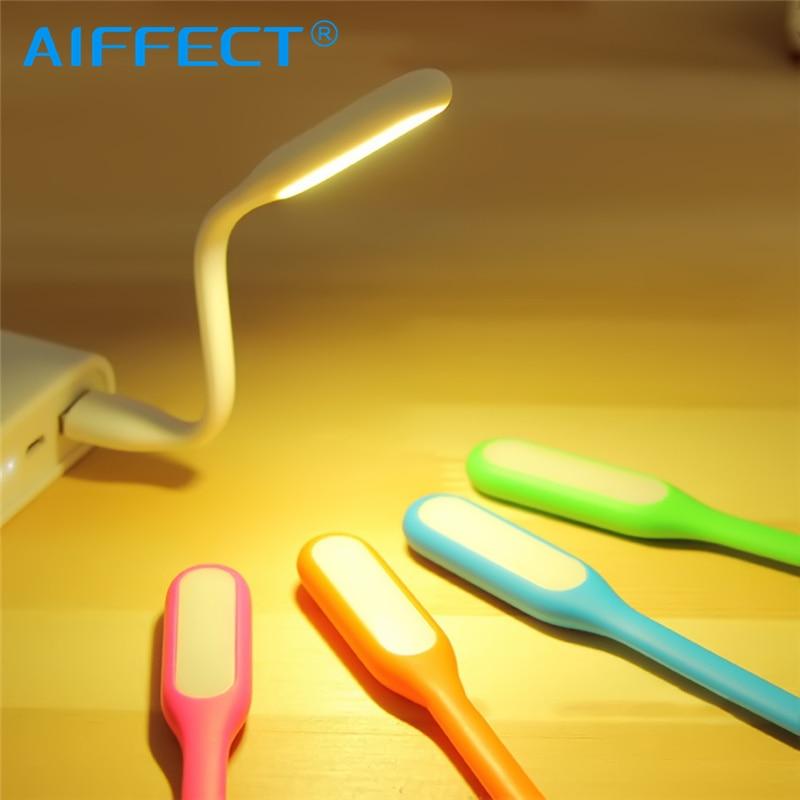 AIFFECT USB Led Light Mini Flexible Camping Table Lamp Gadgets usb Reading lamp Power bank laptop computer Notebook