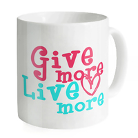 Give More Live More Mugs Coffee Tea Milk Cups Juice Lover Mug Copo Letter Home Sweet
