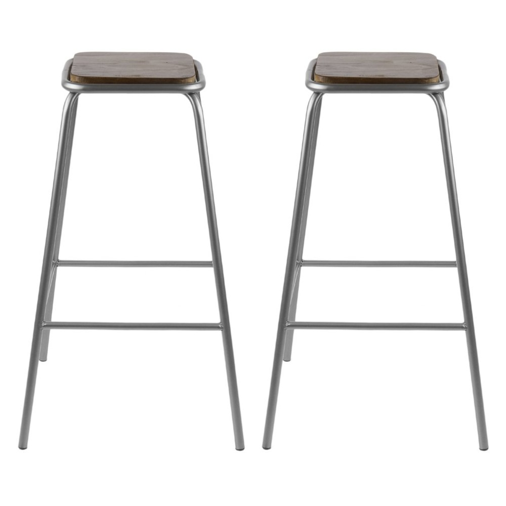 2pcs 76cm Comfortable Stackable Bar Versatile Stool Seat Home Breakfast Kitchen Bistro Cafe Classic Chair Decoration Furniture bar stool breakfast kitchen bistro cafe vintage wood dining chairs modern bar chair dropshipping