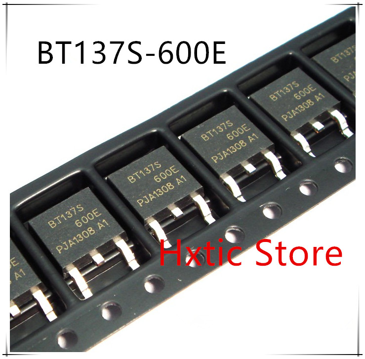 10pcs/lot BT137S-600E TO-252 TRIAC SENS GATE 600V 8A DPAK BT137S-600 BT137S 600E