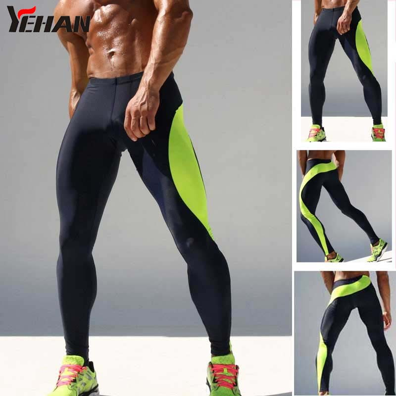 Men High Tight Stretch Gym Clothing Low Waist  Legging Joggers Spandex Sports Jogging Training Pants Pantalon Homme Breathable