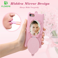 FLOVEME Case For IPhone 7 7 Plus Magic Makeup Mirror TPU Cover Coque For IPhone 6