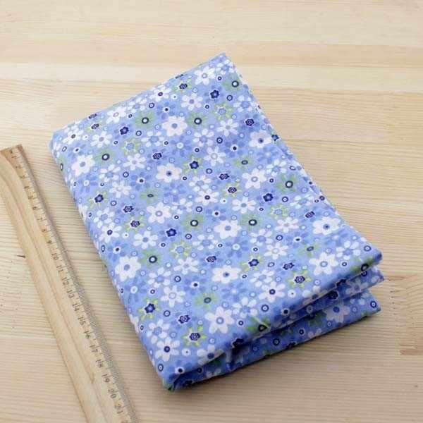7 pcs 50 cm x 50 cm Blu 100% Tessuto di Cotone per patchwork tessuto per cucire FAI DA TE Quilting trimestre grasso tessile Tilda Bambola