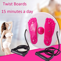 Waist Trianer Twist Boards Body Twisting Disc Aerobic Exercise Figure Trimmer Magnet Balance Rotating Board with Pull Rope