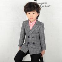Baby Boy Clothes Blazer Spring Children's Clothing Boy's Jacket Double breasted Kids Suit Casual Blazer Coat Outerwear Y143