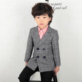 c54ec22ff8dd9 Erkek bebek Giysileri Blazer Bahar çocuk Giyim erkek ceketi Kruvaze Çocuk  Takım Elbise Casual Blazer Ceket Giyim Y143