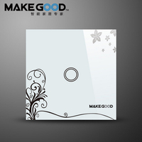 MakeGood Smart Switch EU Standard 1 Gang 2 Way Touch Light Switch With Blue LED Indicator
