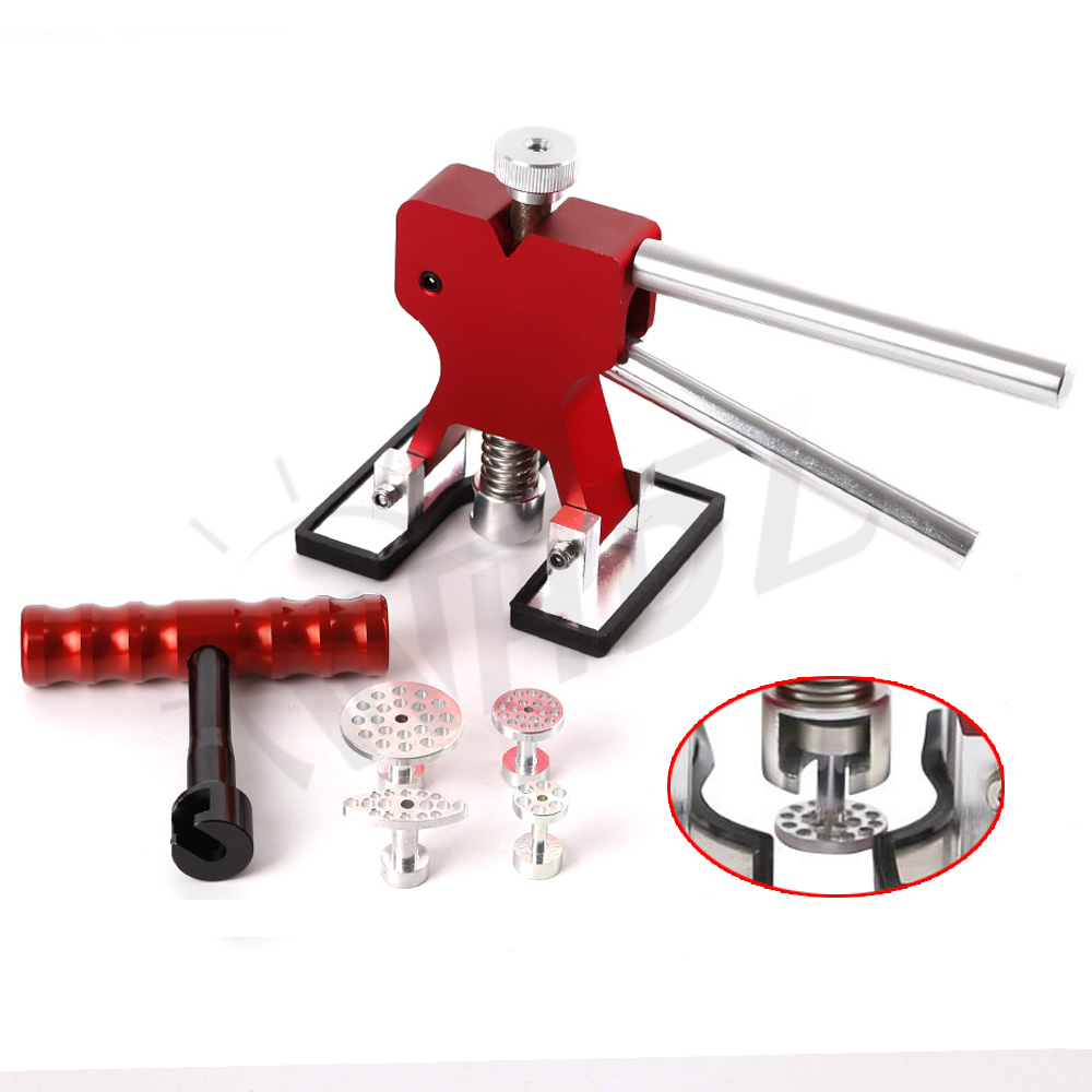 Aluminum body dent lifter handle lifter T-handle Dent Puller with Glue Tabs for professional Paintless Dent Repair  цены