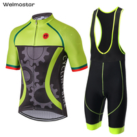 Mens Summer Cycling Jerseys Sets Gear Ropa Ciclismo Cycling Clothing Bike SportsWear Gel Breathable Pad Bib