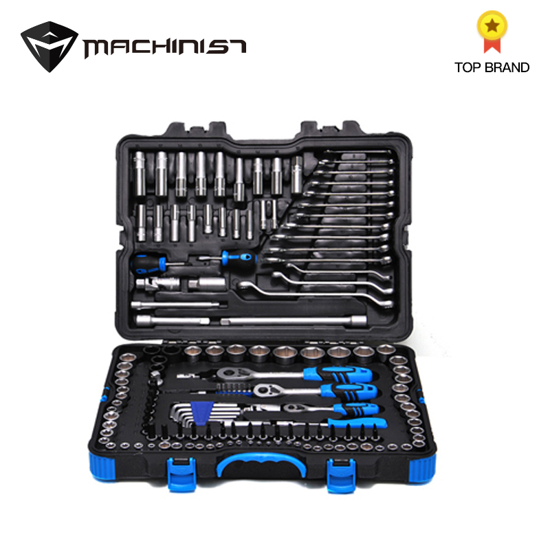 150pcs Car Repair Tool Box Wrench screwdriver sleeves Conversion universal joint Automobile Tools Kit NY TZ150P