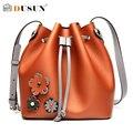 Dusun diseño 3d de la flor de lujo de la vendimia mujeres bolso bolsos moda mujeres abertura cadena bolsas de mensajero solo bolso de hombro