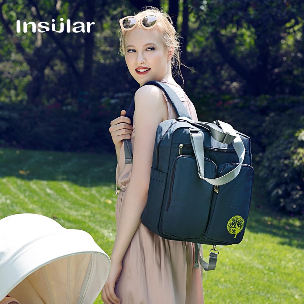 все цены на Insular Brand diaper bag maternity nappy bag large capacity nylon waterproof mummy travel backpack baby stroller bags