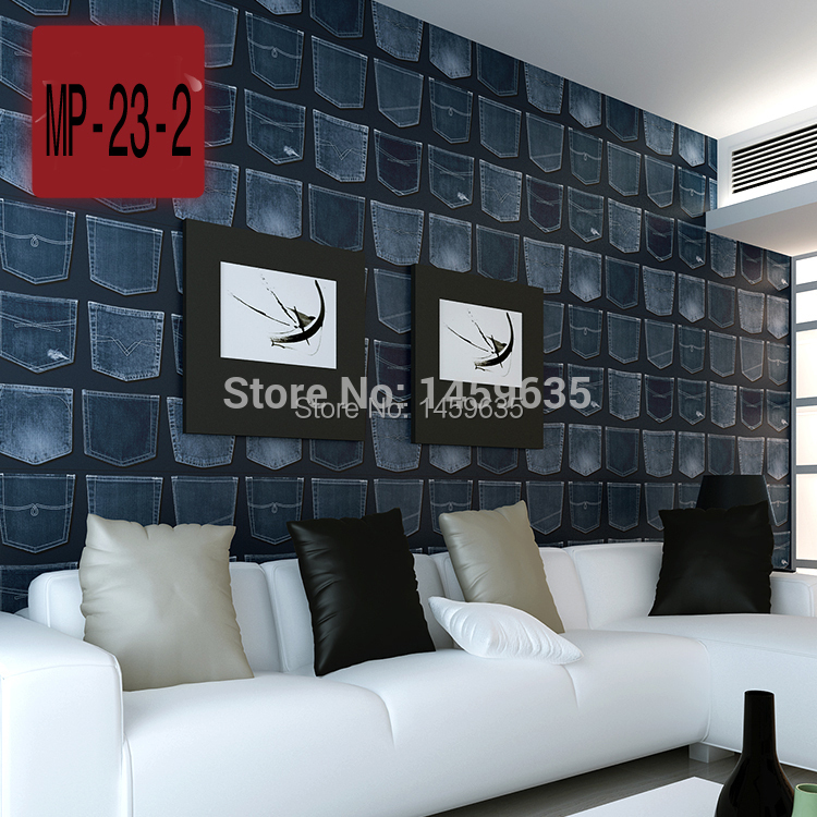 Art retro British style personality jeans wallpaper imported pure paper wall paper living room dining backdrop papel de parede beibehang papel de parede wallpaper shop for living room backdrop british style flag pure paper bedroom wallpaper ab edition