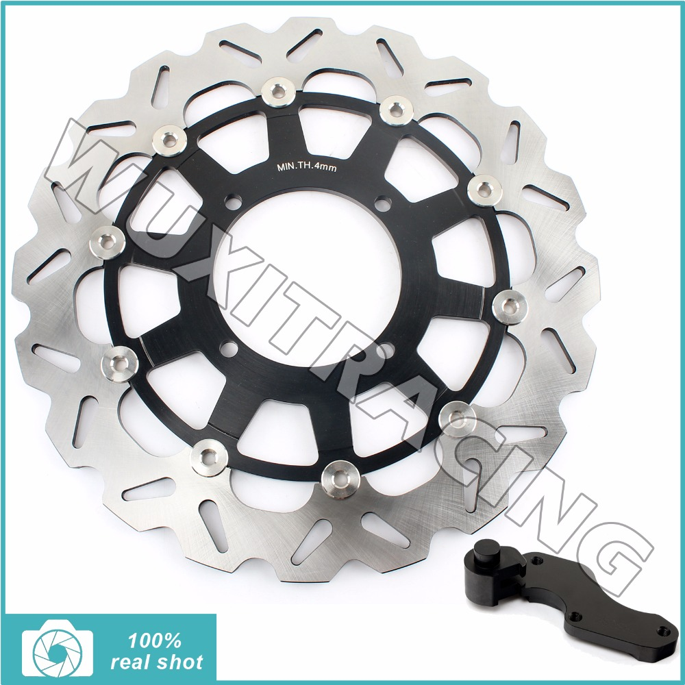 Oversize 320MM Front Brake Disc Rotor Bracket Adaptor for KAWASAKI KX 125 250 500 94-05 KX F 250 KLX R 250 300 650 1993-07 95 96