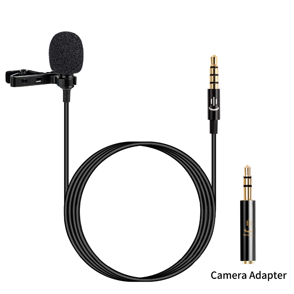 Lavalier Lapel Microphone Condenser Video Mic For IPhone Samsung Android Huawei Xiaomi Smartphones IPad,Canon Nikon Sony DSLR