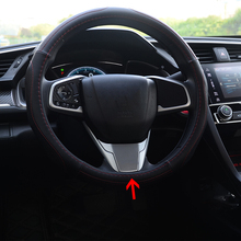 ABS Plastic For Honda Civic 10th 2016 2017 accessories car styling Interior Car Steering Wheel Trim Decoration Cover car styling auto side skirt car abs chrome side body door decoration trim accessories for honda civic 10th 2016 2017 2018 2019