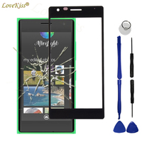 N730 N735 Front Panel For Nokia Lumia 730 735 Touch Screen Sensor LCD Display Digitizer Glass Cover Touchscreen Replacement Tool screen digitizer lcd glass front glass -