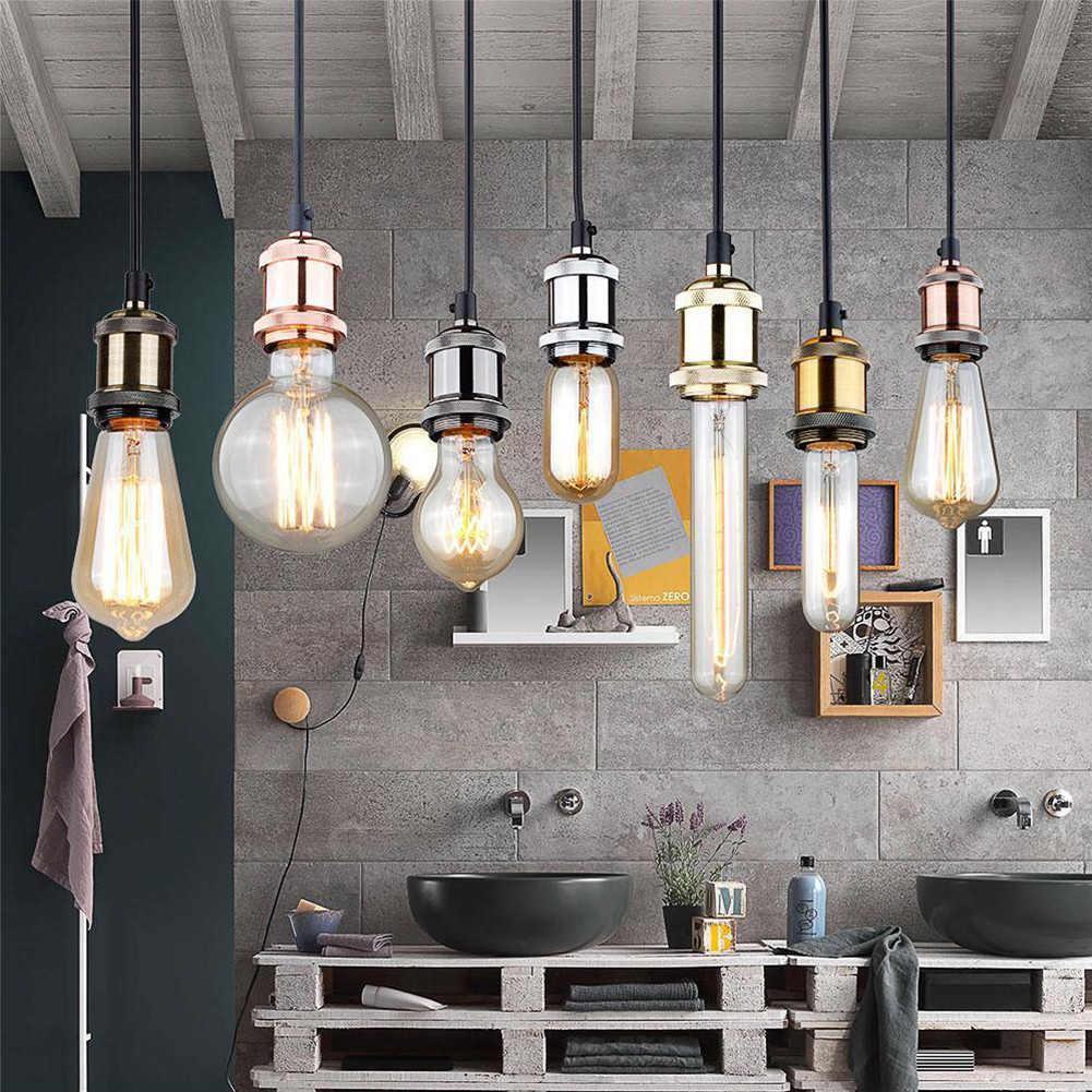 Lightweight Vintage Socket Base Lamp Industrial E27 Bulb Aluminum Durable For Edison