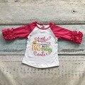 Новорожденных девочек хлопок регланы девушки маленькая мисс ЯЙЦА themely милый регланы дети розовый горошек рукавом регланы детям пасхальные регланы
