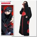 Free Shipping Hot Selling naruto cosplay costume Naruto Akatsuki Uchiha Itachi Cosplay Cloak Hooded Plus Size (S-XL)