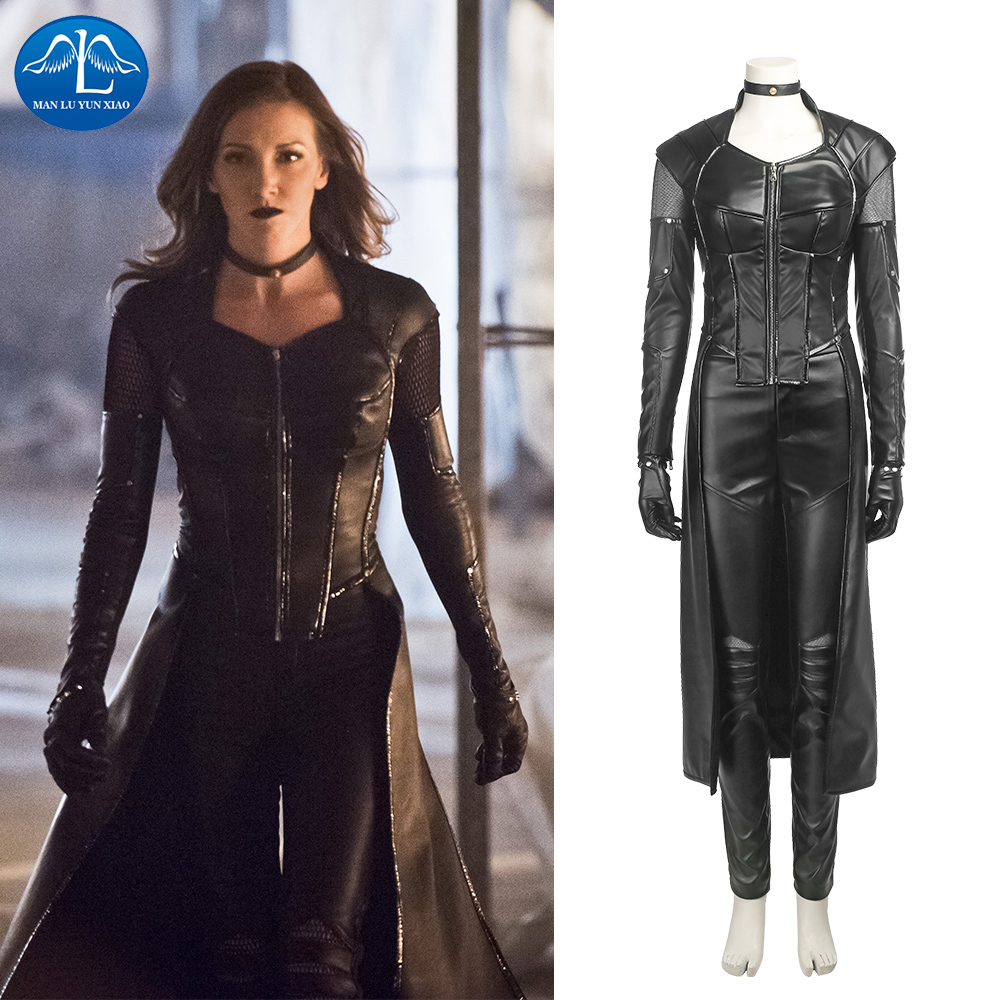 MANLUYUNXIAO Green Arrow 5 Black Canary Costume Dinah Laurel Lance Cosplay Costume Adult Full Set Halloween Costumes For Women