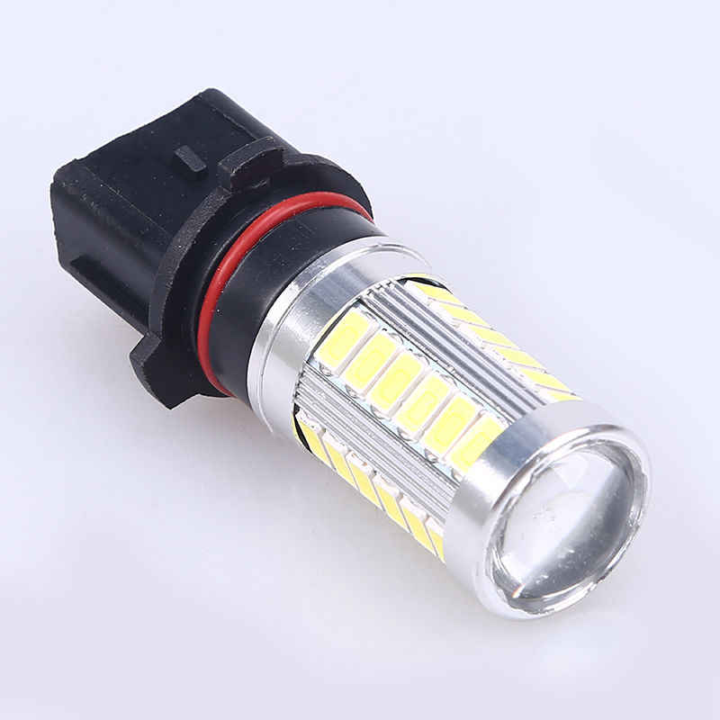 1PC P13W 33 SMD 5630 5730 LED Auto Fog Lamps 33 LED Car Daytime Running Light DRL Bulb blue Yellow Amber Ice blue green 12V
